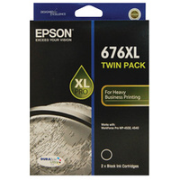 Epson 676XL Black Ink Cartridge TWIN PACK