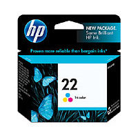 HP 22 Tri-Colour Inkjet Print Cartridge - C9352A