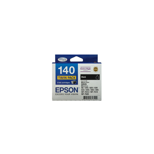 Epson 140 Black Ink Cartridge Twin Pack