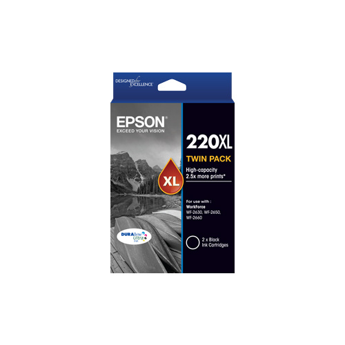Epson 220XL Black Ink Cartridge TWIN PACK