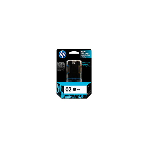 HP 02 Black Ink Cartridge - C8721WA