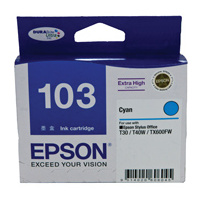 Epson 103 Cyan Ink Cartridge HIGH YIELD