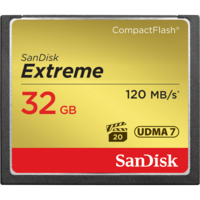 SanDisk Extreme 32GB Compact Flash Card - 120MB/s