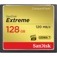 SanDisk Extreme 128GB Compact Flash Card - 120MB/s