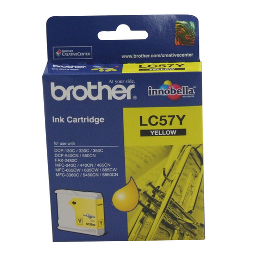 Brother LC57Y Yellow Ink Cartridge