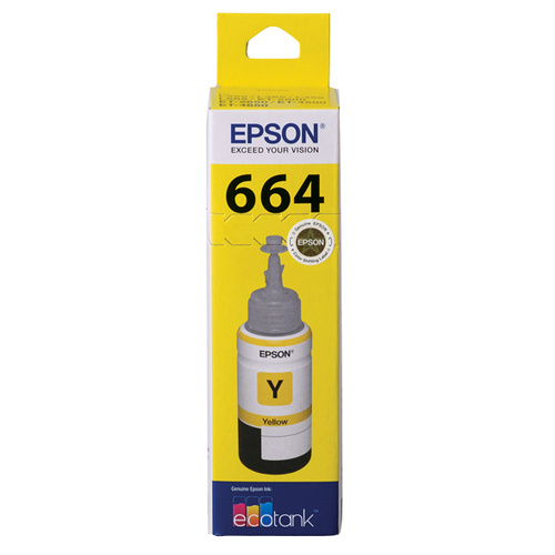 Epson T664 Eco Tank Ink Bottle - Yellow